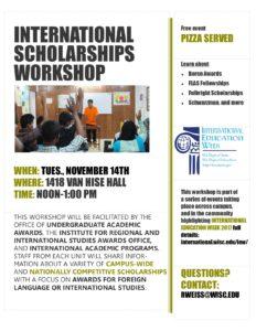 International Scholarships Workshop flyer